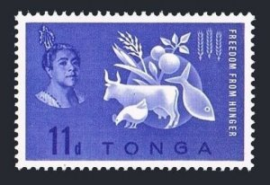 Tonga 127 block/4,MLH/MNH Michel 127. FAO 1963.Freedom from Hunger campaign.