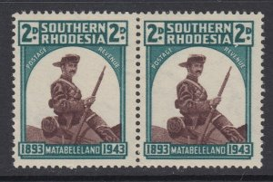 Southern Rhodesia, SG 61 var, MNH pair Inverted G Flaw variety