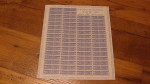 ITALY #QY7 Mint Never Hinged - Complete Sheet of 128 with Margin VF NH