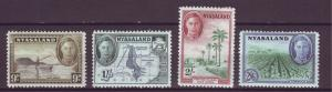 J20903 Jlstamps 1945 nyasaland proct mh #61-4 perf 14 views