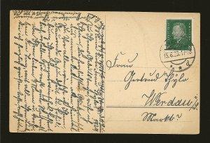 Germany 370 on PM Weida 1929 Postcard Used
