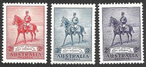 Doyle's_Stamps: 1935 XF++ Australian KGV Julibee Set Scott  #152* to #154*