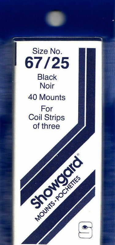SHOWGARD 67/25 (40) Black Mounts Especially For Coil Plate Number Strips New