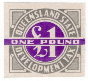 (I.B) Australia - Queensland Revenue : Development Tax £1 (proof)