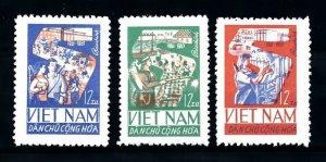 Vietnam 1965 MNH Stamps Scott 378-380 Industry Agriculture Five Year Plan Econom