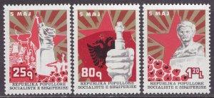 Albania MNH 1789-91 Victory Monument 1977 SCV 5.05