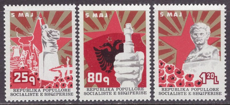 Albania MNH 1789-91 Victory Monument 1977 SCV 5.05