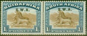 South West Africa 1927 1s Brown & Dp Blue SG64 Fine Mtd Mint