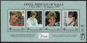 Seychelles #802 MNH S/Sheet - Princess Diana