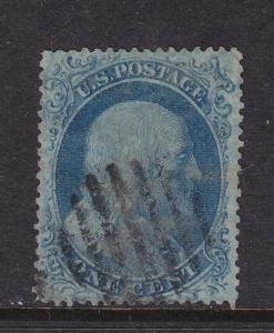 18 VF used neat grid cancel with nice color ! see pic !