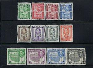 SOMALILAND PROTECTORATE SCOTT #84-95 1938 GEORGE VI PICTORIALS-MINT LH