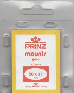 PRINZ CLEAR MOUNTS 50X31 (40) RETAIL PRICE $3.99