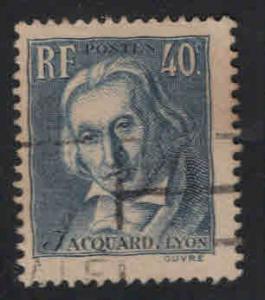 France Scott 295 used 1939 Jacquard stamp