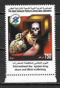Libya 1706 Drug Abuse single MNH
