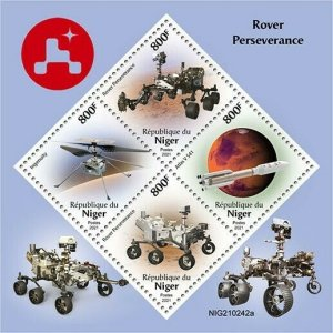 2021/06- NIGER -  SPACE PERSEVERANCE          4V    MNH **