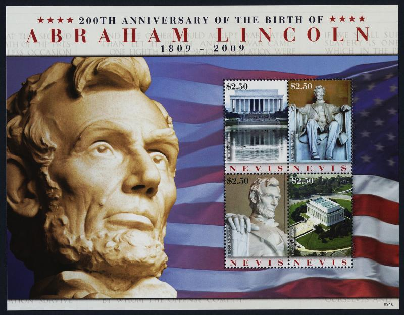 Nevis 1569 MNH Abraham Lincoln Memorial, Architecture
