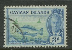 Cayman Islands -Scott 128 -KGVI Definitive Issue -1950-Used -Single 3d Stamp