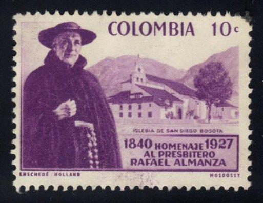 Colombia #695 Father Rafael Almanza, used (0.25)