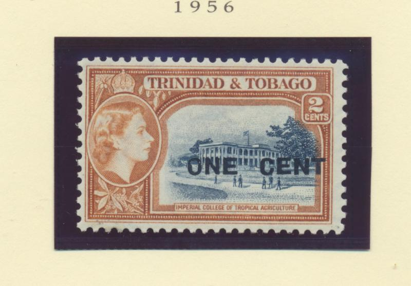 Trinidad and Tobago Scott #85, Mint Never Hinged MNH, One Cent Surcharge Issu...