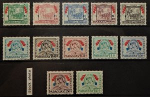 Paraguay 508-19, C233-45. 1957 Heroes of the Chaco War, NH