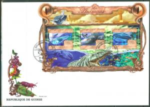 GUINEA  2013 THE ANIMALS  WHALES  SHEET FIRST DAY COVER