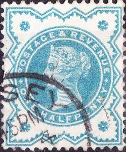GREAT BRITAIN 1900 QV ½d Blue-Green SG213 Used