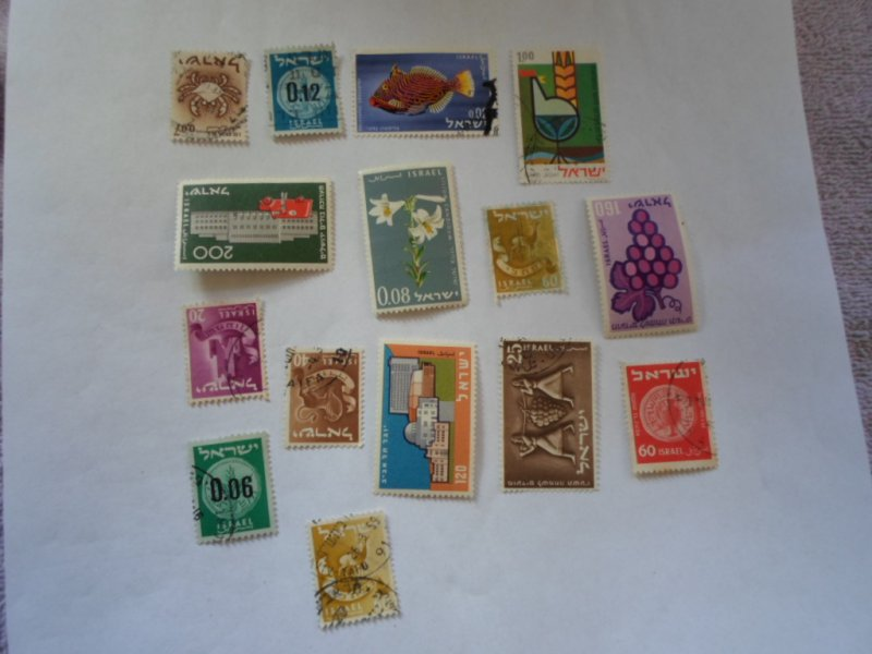 ISRAEL STAMPS MIXED CONDITION. LOT OF 15 stamps ( 6 )