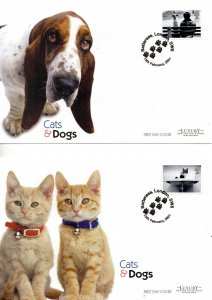 2001 Sg 2187/96 Cats and Dogs Luxury FDC (Limited Edition of 500 Covers)