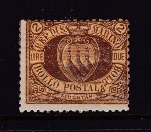 San Marino the 2L MH from the 1877 set