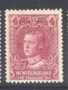 NEWFOUNDLAND 148a 1929 4c ROSE PURPLE PRINCE OF WALES PICTORIAL ISSUE MNH
