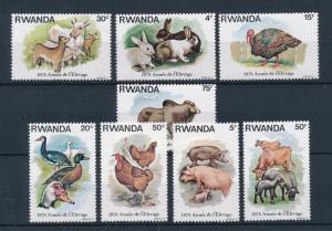 [60280] Rwanda 1978 Farm animals Rabbit Chicken Pigs Cow MLH