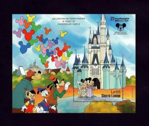 SIERRA LEONE - 1987- DISNEY - TOKYO DISNEYLAND - MICKEY - MINNIE - MINT S/SHEET!