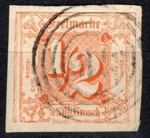 Thurn And Taxis #17 F-VF Used  CV $47.50  (X5182)