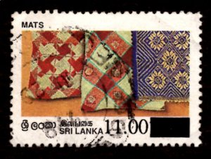 Sri Lanka SURCHARGED 1997 Mats Handicrafts 11r on 10.50r Scott.1190 Used (#5)