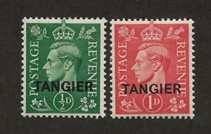 GREAT BRITAIN OFFICES - MOROCCO SC# 521-22  FVF/MLH 1945