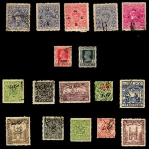 5 COCHIN, 2 CHAMBA, 10 HYDERABAD (INDIAN STATE) All Different Stamps (c80)