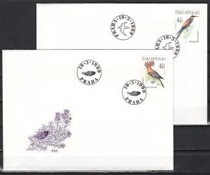 Czech Rep., Scott cat. 3082-3083. Birds issue on 2 First Day Covers.