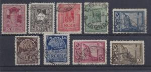 Italy (Aegean Isl.)-Rhodes,15-23,Various Designs Sgls,**U**