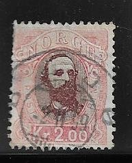 Norway 34 used 2018 SCV $25.00 - short perfs upper left -   13395