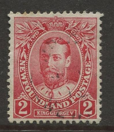 Newfoundland - Scott 105 -Royal Family Issue - 1911 - Used - Single 2c Stamp