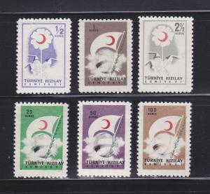Turkey RA207-RA209, RA211-RA213 NNH Postal Tax Stamps