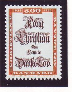 Denmark Sc 741 1983 Danish Law stamp mint NH