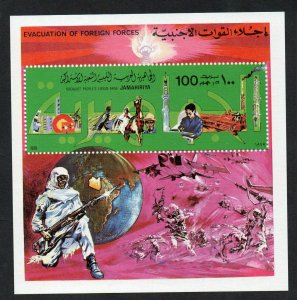 1979- Libya - Evacuation of Foreign Forces- War - Globe - Plane- MS MNH**