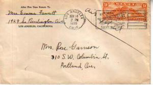 United States, California, Winged Globes, Airmail