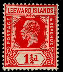 LEEWARD ISLANDS SG63, 1½d carmine-red, NH MINT. WMK SCRIPT.