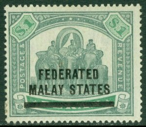 EDW1949SELL : MALAYA 1900 Scott #11 Very Fine, Mint large part OG. Catalog $210.