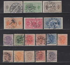 SWEDEN  OFFICIALS,  USED, MY FIRST AUCTION LOT.