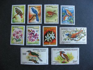 Madagascar, Malagasy Republic Birds, Orchids Sc 340-6, C72-4 MNH Check them out!