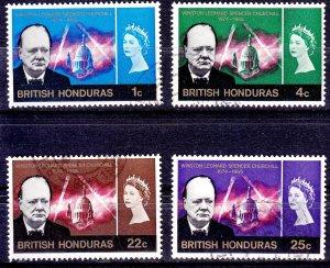 Belize (British Honduras) - #191/4 - 1966 - VFU - CV$1.80