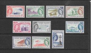 CAYMAN ISLANDS #135-144  MNH